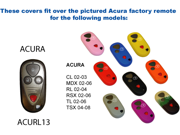 Purple Silicone Key Fob Cover Case Smart Remote Pouches Protection Key Chain Fits: Acura MDX 01-06