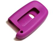 Purple Silicone Key Fob Cover Case Smart Remote Pouches Protection Key Chain Fits: Kia Sorento 11-12