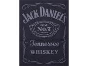 Jack Daniels Raised Logo Juniors T Shirt Black