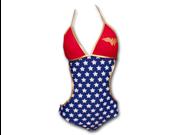 Wonder Woman Juniors Monokini Swimsuit - Blue