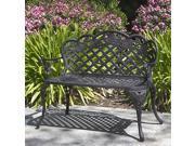 Patio Garden Bench Cast Aluminum Outdoor Garden Yard Solid Construction New