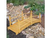 Wooden Bridge 5'  Natural Finish Decorative Solid Wood Garden Pond Bridge New