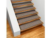 Set of 15 Skid-resistant Indoor Carpet Stair Treads - Black Ripple - Several Other Sizes to Choose From