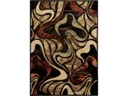 "Home Dynamix Area Rugs: Catalina Rug: 4473-450 Black:5'2""x7'4"" Rectangle"