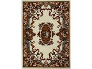 "Home Dynamix Area Rugs: Premium Rug: 7083: Cream 3' 7""x5' 3"" Rectangle"