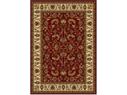 "Home Dynamix Area Rugs: Royalty Rug: 3208-215 Red Ivory 3'6""x5'2"