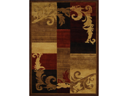 """Home Dynamix Area Rugs: Catalina Rug: 1258-539 Brown - Red: 3'7""""x5'2"""" Rectangle"""