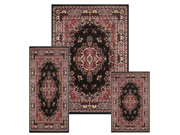 Home Dynamix Area Rugs: Ariana Rug: 7069 Traditional Persian Medallion Black: 3 Piece Set