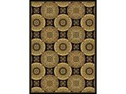 "Home Dynamix Regency Area Rug 8850-450 Black European Circles 9' 2"" x 12' 5"" Rectangle"