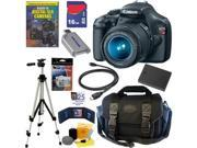 Canon EOS Rebel T3 12.2MP DSLR Camera 18-55MM IS II Lens 16GB DLX Kit