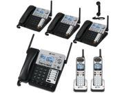AT&T SynJ 4-Line Corded/Cordless Business Phone System with 4 Cordless Desksets & 2 Cordless Handsets & vtech ls916 Retro Handset for Cell Phone