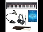 Yamaha P Series P105B 88-Key Digital Piano (Black) + LED Music Book Light + Accessory Kit