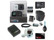 GoPro HERO3+ Black Edition Camera + Sony 16GB Class 10 Memory Card + Wasabi Power Battery + Accessory Kit