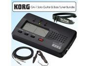 Korg GA1 Solo Guitar & Bass Tuner Kit With Guitar Strap Grip Clip & Cable