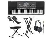 Korg Pa600 Professional Arranger Keyboard + Large Keyboard Bench + Accessory Kit