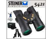 Steiner 5421 10X42 Nighthunter XP Roof Prism Binoculars + Large Binobag for 7x50 and 10x50 Short Barrel Military Binoculars +  More