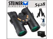 Steiner 5428 8X42 Nighthunter XP Roof Prism Binoculars + Steiner Large Binobag for 7x50 and 10x50 Short Barrel Military Binoculars + More