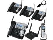 AT&T SynJ 4-Line Corded/Cordless Business Phone System with 3 Cordless Desksets, 1 Cordless Handset & 1 AT&T SB67128 DECT 6.0 Range Repeater