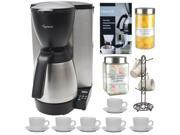 Capresso 48505 MT600 Plus 10-Cup Programmable Coffee Maker w/ Thermal Carafe + Accessory Kit