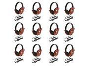 Califone 2810-PA Listening First Stereo Headphone, Bear Motif - Pack of 12