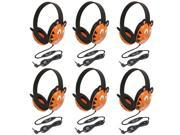 Califone 2810-TI Listening First Stereo Headphone, Tiger Motif - Pack of 6
