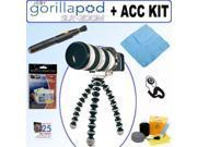 Joby GP3-01EN Gorillapod SLR-Zoom Flexible Tripod for Digital SLR Cameras Accessory Bundle