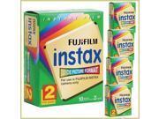 FujiFilm Fuji Instax Instant Film Twin Pack - Two Packs Of 10 (Bundle Of 5)