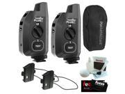 PocketWizard Plus X Radio Trigger with 10 Channels (Set of 2) + Hildozine Transceiver Caddy V3 (Set of 2) + Carrying Case + Accessory Kit