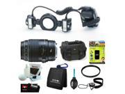 Canon MT-24EX Macro Twin Lite Ringlight for Canon DSLR Bundle with Canon EF 100mm f/2.8 Macro USM Lens + Padded SLR Bag and Accessories