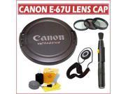 Canon E-67U Snap-On Lens Cap With Accessory Kit