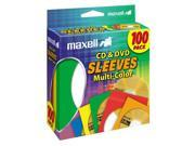 maxell T43744M Maxell CD-403 Multi-Color CD/DVD Sleeves