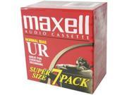 MAXELL MXLUR907PKM Maxell 108575 Normal Bias Audio Tapes 7 Pk