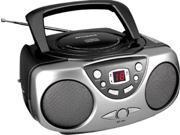 SYLVANIA CURSRCD243MBKG Sylvania Srcd243m Black Portable Cd Radio Boom Box (black)