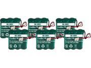 Battery for Panasonic AAU411 (6-Pack) Replacement Battery