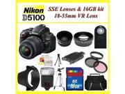 Nikon D5100 Digital SLR Camera with Nikon 18-55mm VR Lens + Huge Bundle
