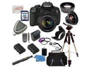 Canon EOS Rebel T4i/700D Digital Camera with EF-S 18-135mm f/3.5-5.6 IS STM Lens + Wide Angle & Telephoto Lens, Filters, 16GB SDHC Memory Card, Card Reader, Case, 2 Replacement Batteries more