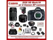 Canon EOS 5D Mark III with Canon EF 75-300mm III Lens + Canon EF 50mm f/1.8 II Lens + Accessories