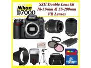 Nikon D7000 16.2mp Dx-format Cmos Digital SLR with 3.0-Inch LCD  w/18-55mm + 55-200mm Lens With PRO Accessory Kit - Black