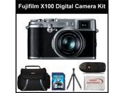 Fujifilm X100 Digital Camera Kit Includes: Fujifilm X-100 Camera, 8 GB Memory Card, Memory Card Reader, Gripster Tripod, SSE Microfiber Cleaning Cloth and Soft Carrying Case