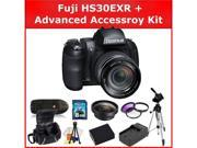 Fujifilm Finepix HS30EXR Digital Camera: 0.45X Wide Angel Lens, 3 Piece Filter Kit(UV-CPL-FLD), Tripod, Extended Life Replacement Battery, Rapid Travel Charger, 8GB SD Card, SD Card Reader, & MORE