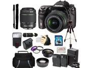Pentax K-5 II Digital SLR Camera Kit with SMC DA 18-55mm f/3.5-5.6 AL WR Lens + SMC Pentax DA 50-200mm f/4-5.6 ED WR Zoom Lens & Huge Accessory Kit