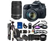Canon EOS 70D (8469B016) DSLR Camera with 18-135mm STM f/3.5-5.6 Lens & Canon 55-250mm Lens With Deluxe Accessory Bundle