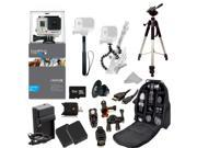 GoPro HERO3+ Silver Edition Camera + Action Pro Series All In 1 ATV/Bike Kit Designed for Bike Mount Motorcross, ATV, ROAD, MOUNTAIN, snowmobile + Extra Necessary Accessories