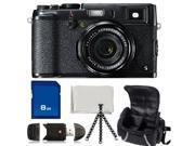 Fujifilm X100S Digital Camera Kit - 8GB SDHC Card, SDHC Card Reader, Flexible Tripod, Soft Deluxe Case, & Micro-Fiber Cleaning Cloth