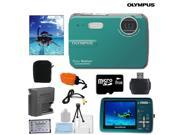 Olympus Stylus 550WP / 560WP Waterproof 10MP Digital Camera + 8GB Memory Card, Floating Strap, Replacement Battery, Case & More
