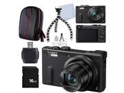 Panasonic LUMIX DMC-ZS40K Digital Camera with 3-Inch LCD (Black) + Deluxe Acessory ...
