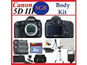 Canon EOS 5D Mark III Digital SLR Camera Body + Huge Battery, Flash & Tripod Acces...