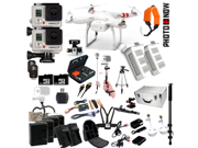 DJI Phantom 2 aerial photographer's bundle including the DJI phantom 2 and 2 GoPro Hero 3+, extra batteries, monopods and more!