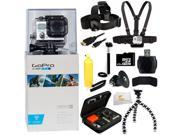 GoPro Hero3: White Edition - (Waterproof Housing) Camera HD Camcorder + 32GB Bundle 12PC Accessory Kit. Includes 32GB MicroSD Card + Reader + Head Strap + Chest Strap + Micro HDMI Cable + MORE!