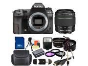 PENTAX K-3 Black 23.35 MP Digital SLR Camera With 18-55mm WR Lens Bundle